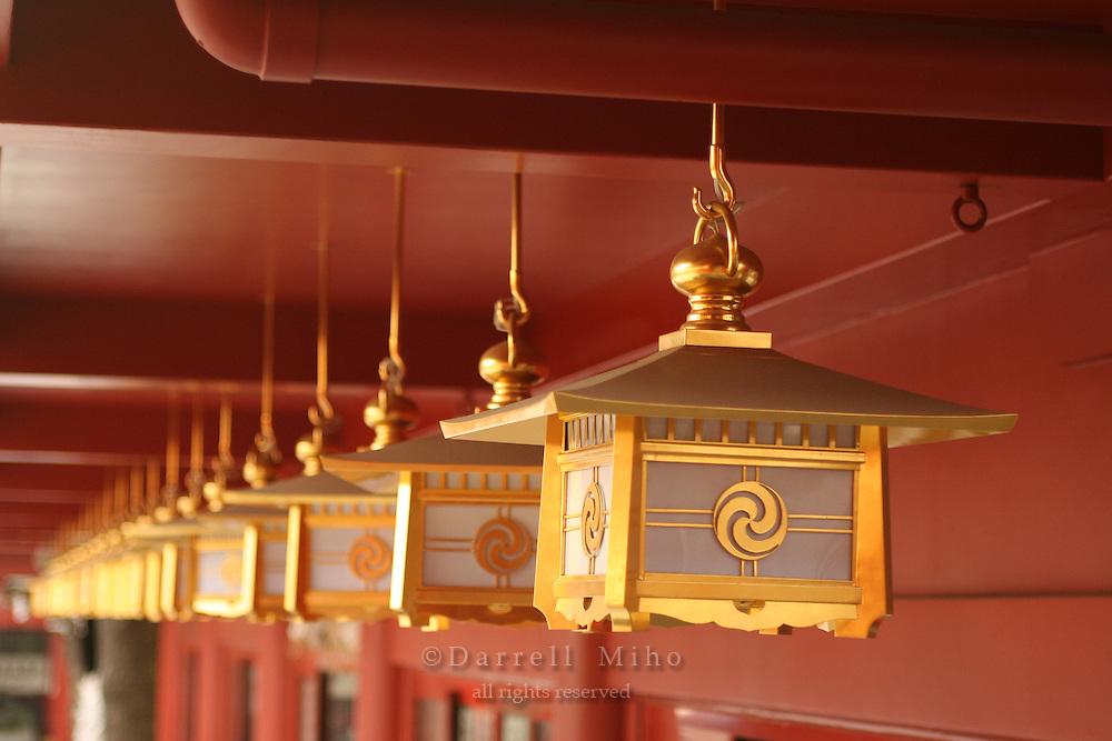Mar 8, 2006; Tokyo, JPN; Kanda.Lamps at Kanda-Myojin Temple...Photo Credit:  Darrell Miho