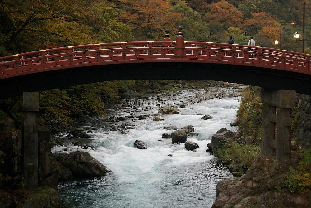 the sacred Shinkyo bridge the old entrance to Nikko