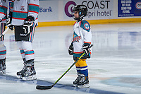 KELOWNA, CANADA - FEBRUARY 8: Carsten Campbell is the Pepsi Save On Foods Player of the game on February 8, 2016 at Prospera Place in Kelowna, British Columbia, Canada.  (Photo by Marissa Baecker/Shoot the Breeze)  *** Local Caption *** Carsten Campbell;