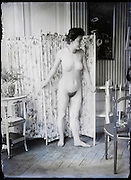 female artist model in studio Paris France around 1900