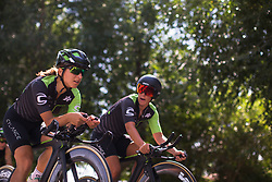 Cylance Pro Cycling riders warm up for Stage 1 of the Madrid Challenge - a 12.6 km team time trial, starting and finishing in Boadille del Monte on September 15, 2018, in Madrid, Spain. (Photo by Balint Hamvas/Velofocus.com)