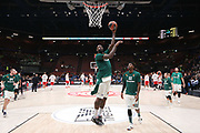 Team Panathinaikos durante il pregame, AX ARMANI EXCHANGE OLIMPIA MILANO vs PANATHINAIKOS SUPERFOODS ATHENS, EuroLeague 2017/2018, Mediolanum Forum Milano 05 aprile 2018 - FOTO Bertani/Ciamillo