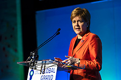 "The First Minister of Scotland, Nicola Sturgeon, addresses the Global Grand Final of the world's largest green ideas competition, hosted in Scotland for the first time by the Edinburgh Centre for Carbon Innovation on Friday 2 November 2018.<br /> <br /> The First Minister of Scotland, said ""With world-leading emissions targets and a long and proud history of innovation, Scotland punches above its weight when it comes to climate action."""