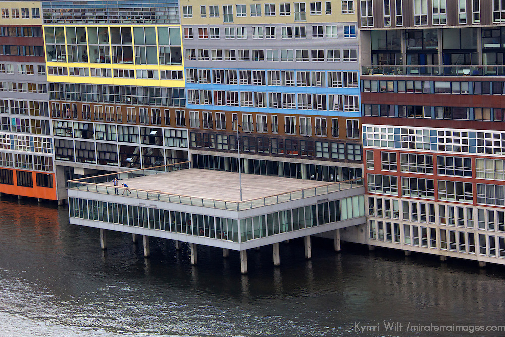 Europe, Netherlands, Amsterdam. Waterfront Apartments in Amsterdam