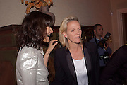 BELLA FREUD; ELIZABETH MURDOCH, Freud Museum dinner, Maresfield Gardens. 16 June 2011. <br /> <br />  , -DO NOT ARCHIVE-© Copyright Photograph by Dafydd Jones. 248 Clapham Rd. London SW9 0PZ. Tel 0207 820 0771. www.dafjones.com.