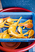 Sppons at street food stall. Georgtown, Penang