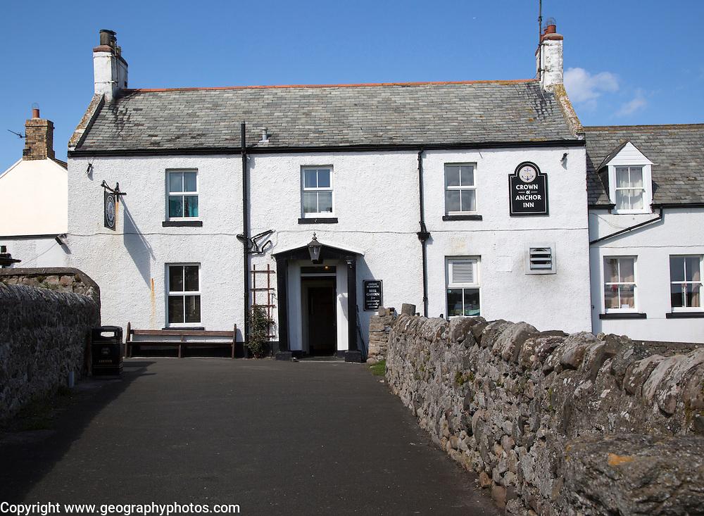 Crown and Anchor pub, Holy Island, Lindisfarne, Northumberland, England, UK