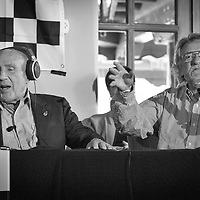 Sir Stirling Moss and Tim Considine, Legends of Racing lecture at the Las Campanas Clubhouse, 2013 Santa Fe Concorso.