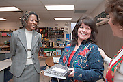 Dean Middleton,Dean of the College of Education visits .Chauncey Elementary. ..This month, Dean Middleton is starting a campaign to visit every K-12 public school in the 29 counties of Appalachian Ohio within the next 5 years...Names of People:..Mrs. Linda Rolli, Principal(red dress),..Susie Allen,3rd Grade Teacher, wearing jean jacket.Geri Mitchel,3rd Grade Teacher, Striped shirt, glasses