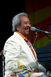 27 April 2013. New Orleans, Louisiana,  USA. .New Orleans Jazz and Heritage Festival. Allen Toussaint takes to the Acura stage..Photo; Charlie Varley.