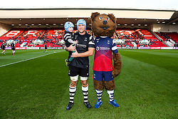 Jordan Crane's son Hunter is the matchday mascot - Rogan/JMP - 19/01/2019 - RUGBY UNION - Ashton Gate Stadium - Bristol, England - Bristol Bears v Enisei STM - European Rugby Challenge Cup.