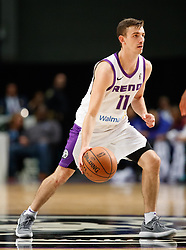 November 19, 2017 - Reno, Nevada, U.S - Reno Bighorns Guard DAVID STOCKTON (11) during the NBA G-League Basketball game between the Reno Bighorns and the Long Island Nets at the Reno Events Center in Reno, Nevada. (Credit Image: © Jeff Mulvihill via ZUMA Wire)