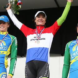 Sportfoto archief 2011<br /> Podium NK Marianne Vos, Irene van den Broek, Chantal Blaak