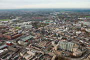 Nederland, Brabant, Helmond, 15-11-2010. Overzicht van het centrum van de stad..luchtfoto (toeslag), aerial photo (additional fee required).foto/photo Siebe Swart