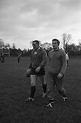 Irish Rugby Football Union, Ireland v England, Five Nations, Irish Rugby team practice, Dublin, Ireland, Friday 12th February, 1965,.13.2.1965, 2.13.1965,..Referee- H S Laidlaw, Scottish Rugby Union, ..Score- Ireland 5 - 0 England, ..Irish Team, ..T J Kiernan,  Wearing number 15 Irish jersey, Full Back, Cork Constitution Rugby Football Club, Cork, Ireland,..P J Casey, Wearing number 14 Irish jersey, Right Wing, Landsdowne Rugby Football Club, Dublin, Ireland, ..M K Flynn, Wearing number 13 Irish jersey, Right Centre, Wanderers Rugby Football Club, Dublin, Ireland, ..K J Houston, Wearing number 12 Irish jersey, Left Centre, Bruff Rugby Football Club, Limerick, Ireland, and, Oxford University Rugby Footabll Club, Oxford, England,..P J McGrath,  Wearing number 11 Irish jersey, Left Wing, University college Cork Rugby Football Club, Cork, Ireland,..C M H Gibson, Wearing number 10 Irish jersey, Stand Off, Cambridge University Rugby Football Club, Cambridge, England, and, N.I.F.C, Rugby Football Club, Belfast, Northern Ireland, ..R M Young, Wearing number 9 Irish jersey, Scrum Half, Queens University Rugby Football Club, Belfast, Northern Ireland,..S MacHale, Wearing number 1 Irish jersey, Forward, Landsdowne Rugby Football Club, Dublin, Ireland, ..K W Kennedy, Wearing number 2 Irish jersey, Forward, Queens University Rugby Football Club, Belfast, Northern Ireland,..R J McLoughlin, Wearing number 3 Irish jersey, Captain of the Irish team, Forward, Gosforth Rugby Football Club, Newcastle, England, ..W J McBride, Wearing number 4 Irish jersey, Forward, Bective Rangers Rugby Football Club, Dublin, Ireland,  ..W A Mulcahy, Wearing number 5 Irish jersey, Forward, Bective Rangers Rugby Football Club, Dublin, Ireland,  ..M G Doyle, Wearing number 6 Irish jersey, Forward, University College Dublin Rugby Football Club, Dublin, Ireland,..R A Lamont, Wearing number 8 Irish jersey, Forward, Instonians Rugby Football Club, Belfast, Northern Ireland, ..N Murphy, Wearing number 7 Irish