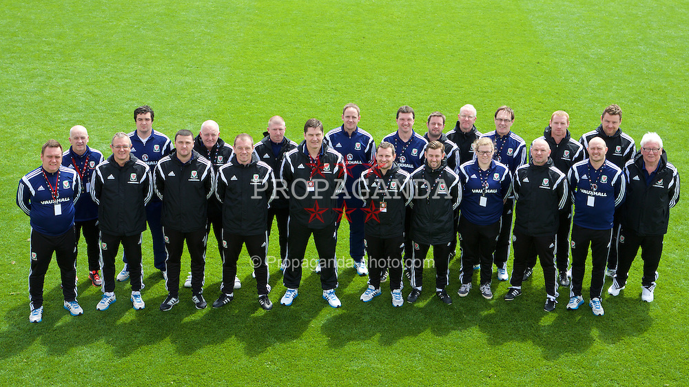 NEWPORT, WALES - Sunday, May 31, 2015: FAW Staff during the Football Association of Wales' National Coaches Conference 2015 at Dragon Park FAW National Development Centre. (Pic by David Rawcliffe/Propaganda)