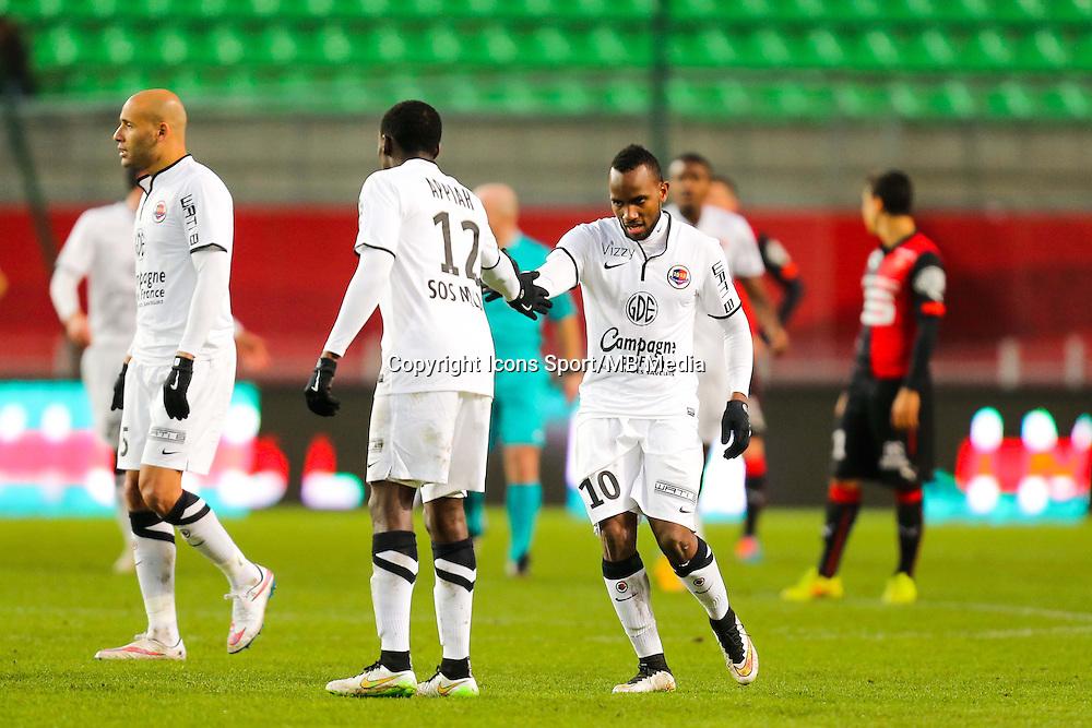 Joie Lenny NANGIS / groupe Caen  - 25.01.2015 - Rennes / Caen  - 22eme journee de Ligue1<br /> Photo : Vincent Michel / Icon Sport *** Local Caption ***