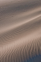 Close-up of the rippling sand dunes of the Camargue, southern France.