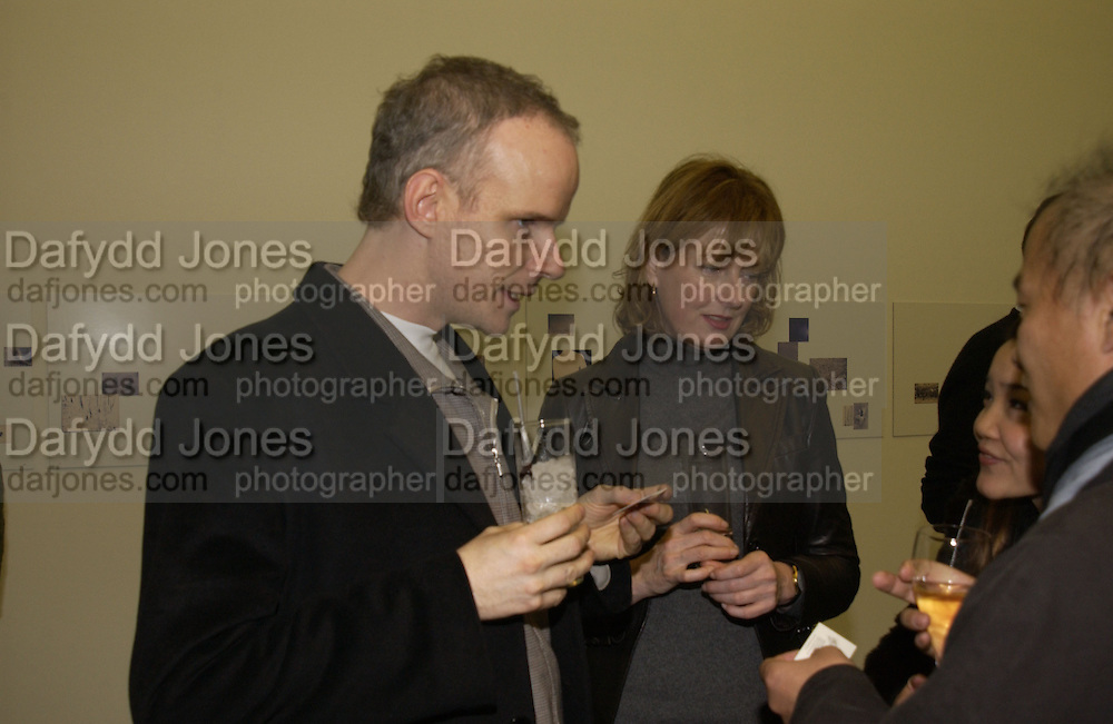 Hans Obrist Ulrich and Julia Peyton-Jones CPhoto magazine launch hosted by Elena Foster. Serpentine Gallery. January 14 2006. London. ONE TIME USE ONLY - DO NOT ARCHIVE  © Copyright Photograph by Dafydd Jones 66 Stockwell Park Rd. London SW9 0DA Tel 020 7733 0108 www.dafjones.com