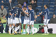 West Bromwich Albion midfielder Claudio Jacob (5) scores a goal 1-1 and celebrates during the EFL Cup match between West Bromwich Albion and Manchester City at The Hawthorns, West Bromwich, England on 20 September 2017. Photo by Alan Franklin.