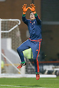 Nottingham Forest goalkeeper Dorus de Vries  during the Sky Bet Championship match between Nottingham Forest and Leeds United at the City Ground, Nottingham, England on 27 December 2015. Photo by Simon Davies.