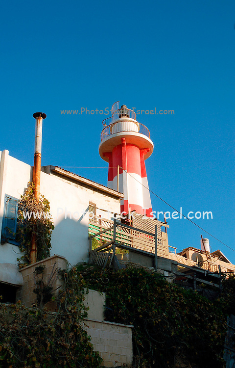 Israel, Tel aviv, Jaffa. Light house at the old Jaffa port