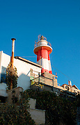 Israel, Tel aviv, Jaffa. Light house at the old Jaffa port