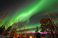 Northern lights over Whitehorse, Yukon
