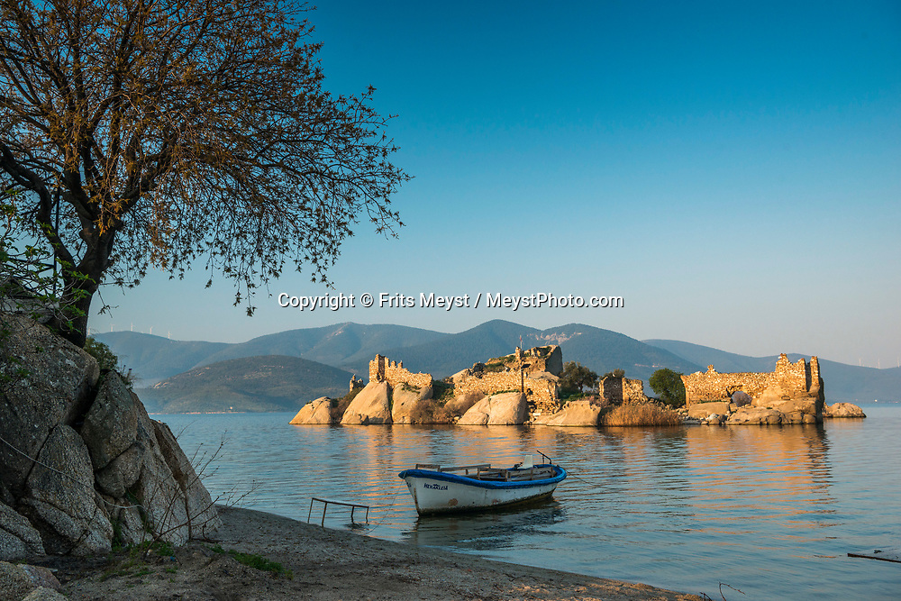 Heracleia, Kapikiri, Bafa Golu, Turkey, April 2017.  Lake Bafa or Lake Bafa Nature Park is a lake and a nature reserve situated in southwestern Turkey, part of it within the boundaries of Milas district of Muğla Province and the northern part within Aydın Province's Söke district. With its many small bays along the rugged  mediterranean coast, and a great safety standard, Turkey is well suited for camper tourism. Photo by Frits Meyst / MeystPhoto.com