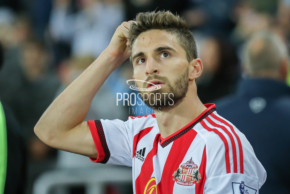 Sunderland forward Fabio Borini during the Capital One Cup match between Sunderland and Manchester City at the Stadium Of Light, Sunderland, England on 22 September 2015. Photo by Simon Davies.
