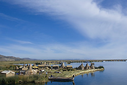 Uros Islands (also known as Floating Islands or Islas Flotantes), Lake Titicaca, Peru, South America