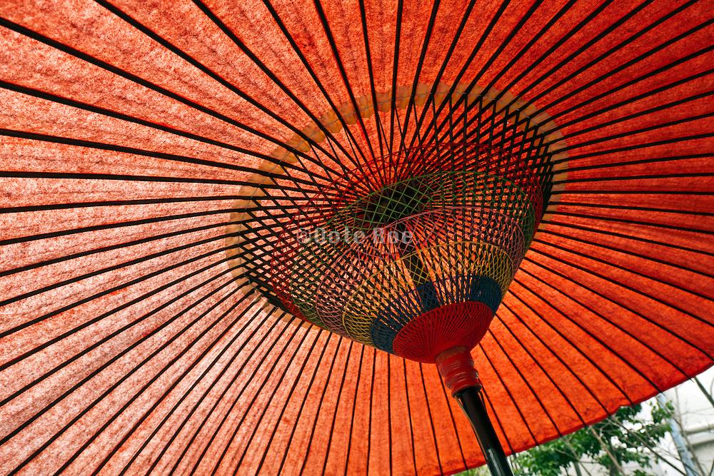 Japanese style wax paper umbrella decoration
