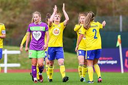 Aoife Mannion of Birmingham City Women celebrates scoring his sides first goal of the game - Mandatory by-line: Ryan Hiscott/JMP - 14/10/2018 - FOOTBALL - Stoke Gifford Stadium - Bristol, England - Bristol City Women v Birmingham City Women - FA Women's Super League 1