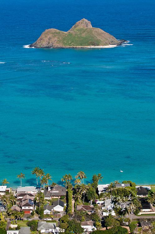 Mokulua Islands off Lanikai, Oahu, Hawaii