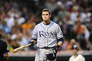 Tampa Bay Rays rookie Evan Longoria during a weekend series July 12, 2008 and July 13, 2008 in Cleveland.