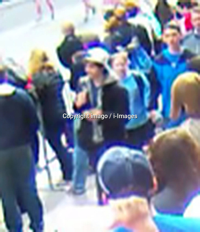 59537051  .Photo released by the U.S. Federal Bureau of Investigation (FBI) in Boston on April 18, 2013 shows one (C) of the two Boston bombing suspects. The FBI special agent Richard DesLauriers on Thursday released the photos and video of two suspects of Monday s deadly bombings in Boston, asking for the publics help to identify them,18 April, 2013. Friday 19, April. Photo by: i-Images.UK ONLY