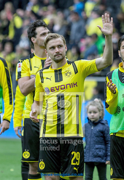 Marcel Schmelzer of Borussia Dortmund during the Bundesliga match at Signal Iduna Park, Dortmund<br /> Picture by EXPA Pictures/Focus Images Ltd 07814482222<br /> 14/05/2016<br /> ***UK &amp; IRELAND ONLY***<br /> EXPA-EIB-160514-0125.jpg