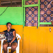 Lethem, Guyana. Mimì and Nicole are from Lethem. they have lived and studied in Brazil for 13 years. Now they came back to Guyana to work in Osvaldinho's restaurant. They both speak perfectly portuguese