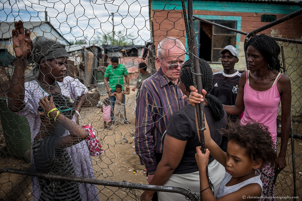 (2013) Hermann visits some of the women in Damara 6 at their homes.