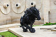Armenia, Yerevan, Cafesjian Museum of Art and the Cascade  Lion 2 by Ji Yong-Ho