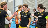 ROTTERDAM -  Laz Omrani (Den Bosch)  heren Den Bosch-HIC,   ,hoofdklasse competitie  zaalhockey.  links Laz Omrani (Den Bosch)  COPYRIGHT  KOEN SUYK
