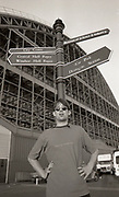 Tom Hingley of Inspiral Carpets outside Manchester G-Mex, Manchester, UK, 1990