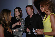 Gina Mckee, Damian Lewis and Olivia Inge. The Moet & Chandon Fashion Tribute 2005 to Matthew Williamson,  Old Billingsgate market, London. 16th February 2005. ONE TIME USE ONLY - DO NOT ARCHIVE  © Copyright Photograph by Dafydd Jones 66 Stockwell Park Rd. London SW9 0DA Tel 020 7733 0108 www.dafjones.com