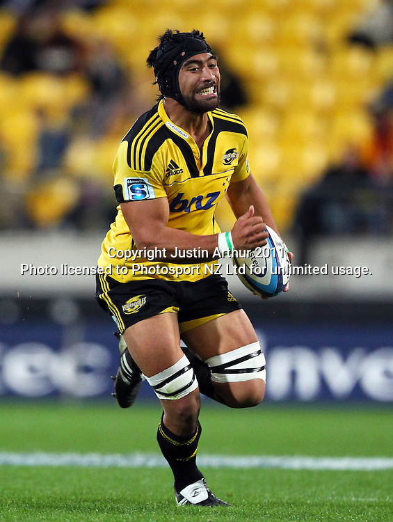 Victor Vito on the run.Investec Super 15 rugby match - Hurricanes v Lions, at Westpac Stadium, Wellington, New Zealand on Saturday 4 June 2011. Photo: Justin Arthur / photosport.co.nz