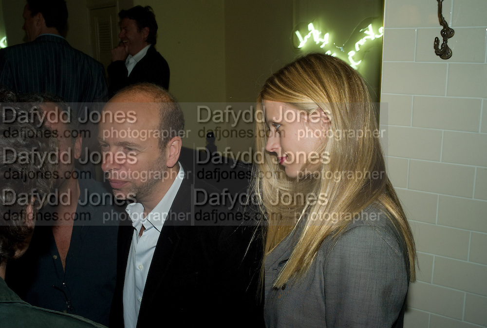 ERIC FELNER AND LAURA BAILEY, book launch for 'Private Collection' by Danny Moynihan. Hix Oyster and Chop House. Cowcross st. London. 12 June 2008.  *** Local Caption *** -DO NOT ARCHIVE-© Copyright Photograph by Dafydd Jones. 248 Clapham Rd. London SW9 0PZ. Tel 0207 820 0771. www.dafjones.com.