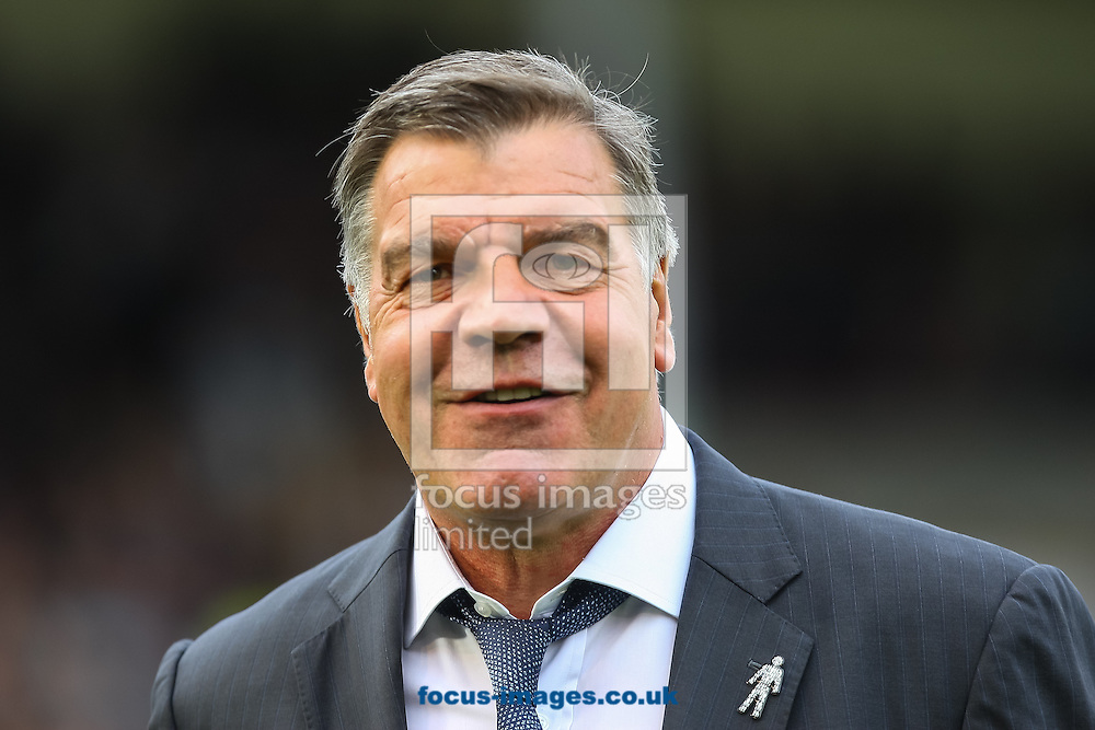 West Ham United manager Sam Allardyce smiles during the Barclays Premier League match at Turf Moor, Burnley<br /> Picture by Daniel Chesterton/Focus Images Ltd +44 7966 018899<br /> 18/10/2014