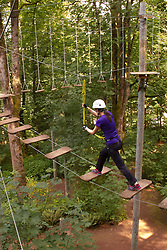 North America, United States, Bellevue, Discovery Challenge Ropes Course.  MR