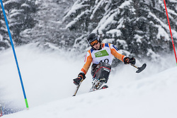 Kampschreur Jeroen of Nederland during Slalom race at 2019 World Para Alpine Skiing Championship, on January 23, 2019 in Kranjska Gora, Slovenia. Photo by Matic Ritonja / Sportida