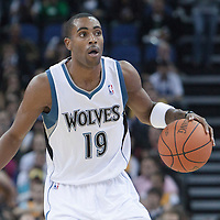04 October 2010: Minnesota Timberwolves guard Wayne Ellington #19 is seen during the Minnesota Timberwolves 111-92 victory over the Los Angeles Lakers, during 2010 NBA Europe Live, at the O2 Arena in London, England.