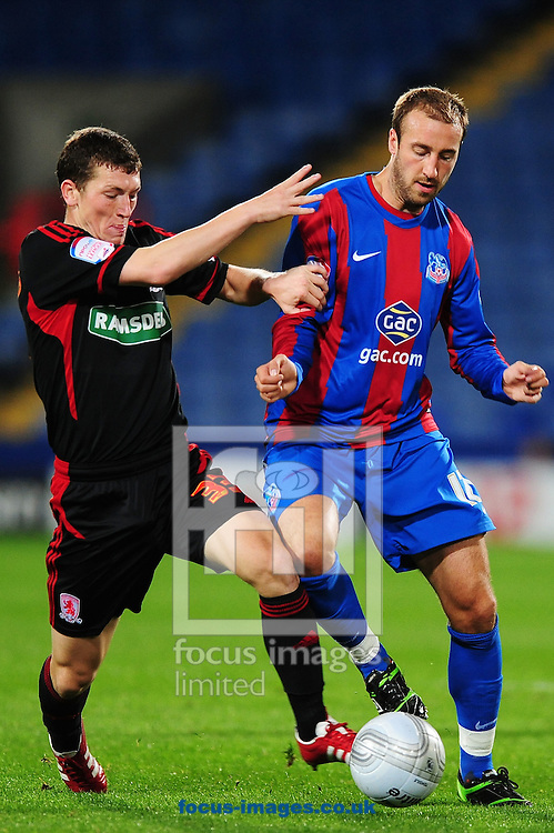 Picture by Alex Broadway/Focus Images Ltd.  07905 628187.12/9/11.Glenn Murray of Crystal Palace and Richard Smallwood of Middlesbrough during the Carling Cup third round match at Selhurst Park stadium, London.